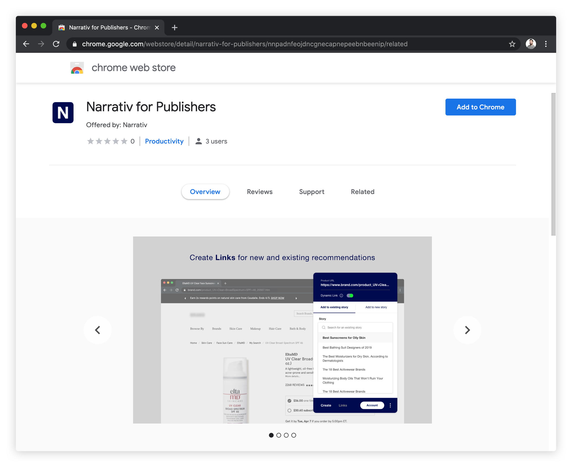 How to Download Narrativ Chrome Extension — Narrativ API 1 8